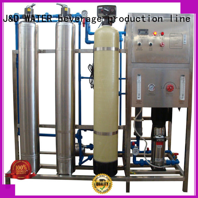 J&D WATER high quality reverse osmosis water filter system with Glass Tank for drinking water for treatment