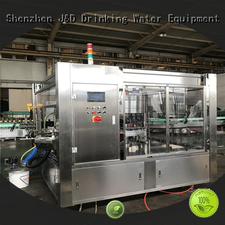 J&D WATER High Speed bottle labeling machine labeling metal container