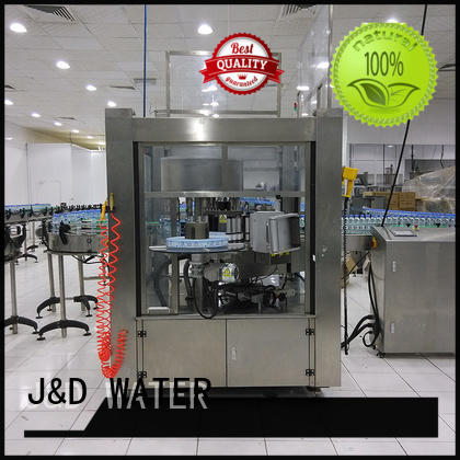J&D WATER square bottle labeling machine convenient for metal container