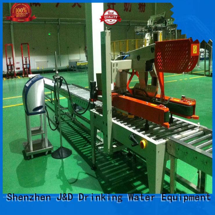 steel roller conveyor stainless steel for food J&D WATER