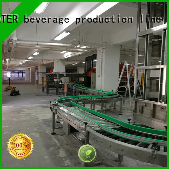 J&D WATER Customized motorized roller conveyor stainless steel for beverage