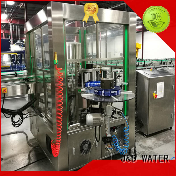 J&D WATER stainless steel opp labeling machine quickly for glass bottle