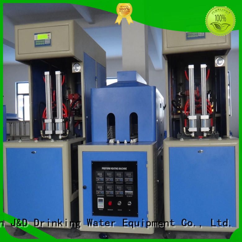 J&D WATER semi-automatic blow molding machine manufacturers stable for mineral water bottles