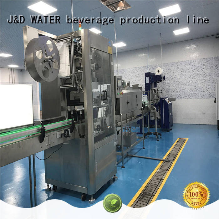 J&D WATER automatic labeling machine quickly for film lables