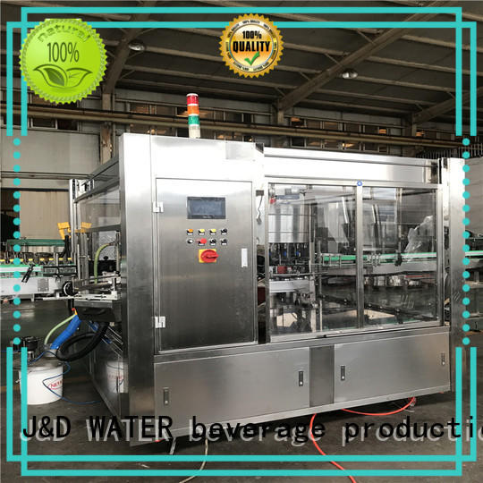 J&D WATER semi automatic labeling machine reduce cost for plastic bottle