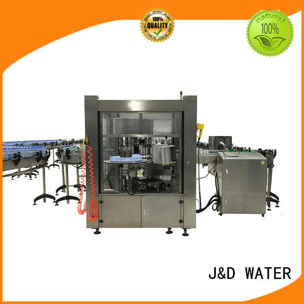 J&D WATER stainless steel square bottle labeling machine convenient for glass bottle