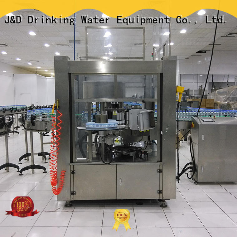 J&D WATER OPP automatic round bottle labeling machine glue for metal container