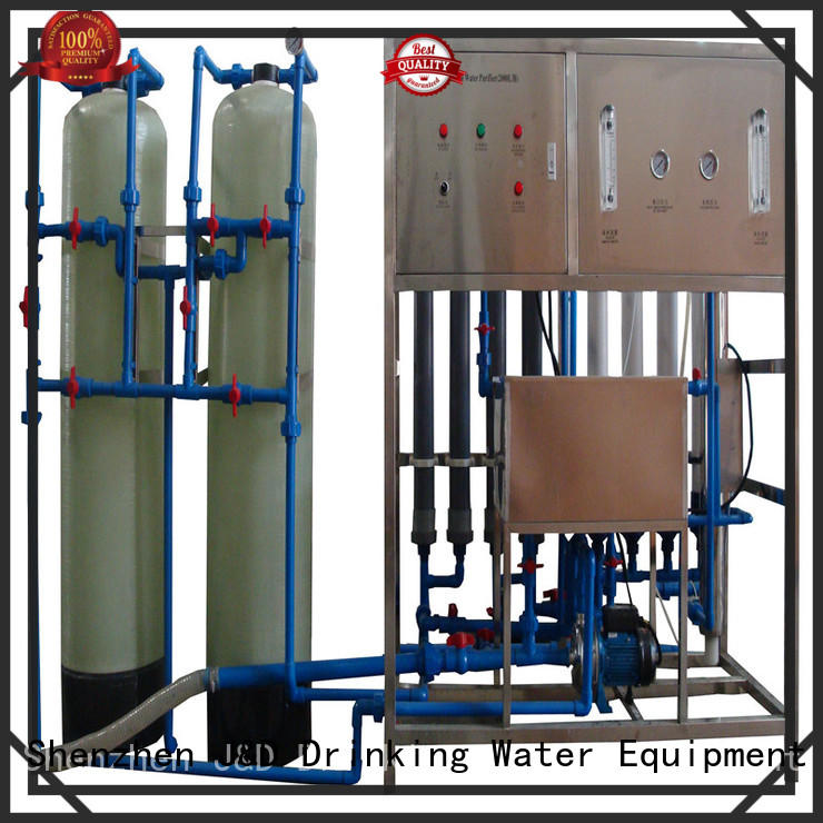 J&D WATER easy operation mineral water filter machine With Stainless Steel chrome plating