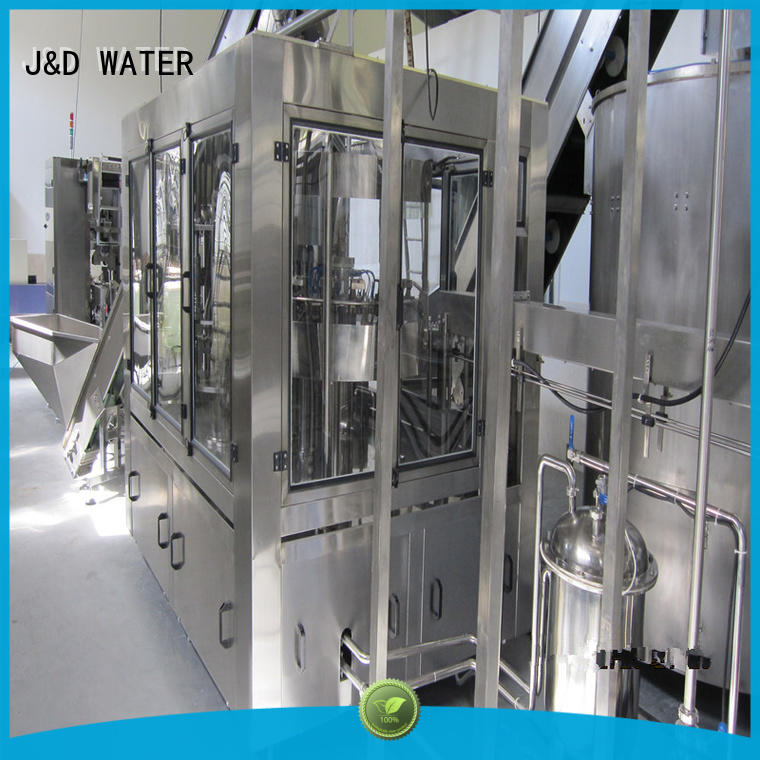 J&D WATER adjusted auto packing machine good quality for Glass bottles
