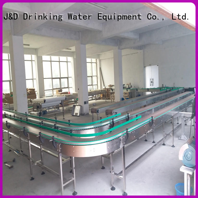 industrial slat conveyor manufacturer for daily chemical J&D WATER