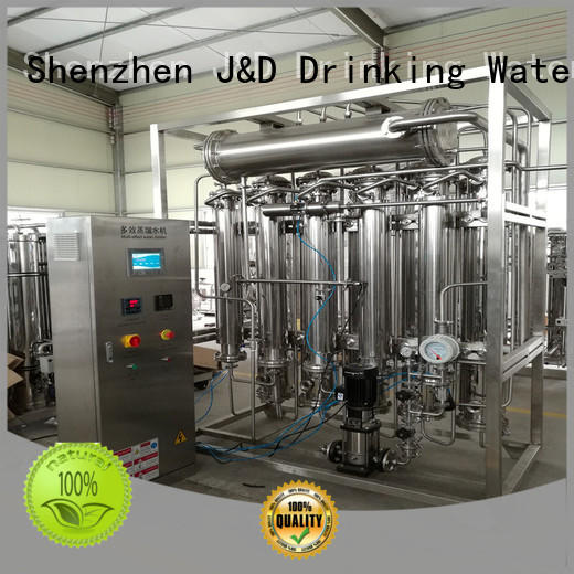 J&D WATER low energy consumption distilled water machine price luxury for food
