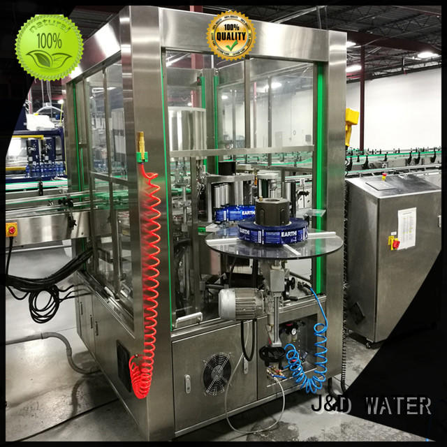 J&D WATER anti-rust square bottle labeling machine convenient for film lables