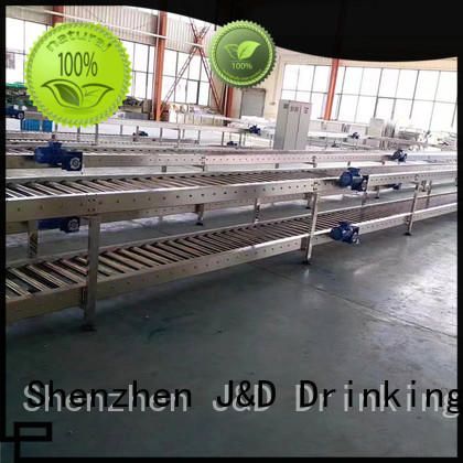 stainless roller conveyor system stainless steel for food J&D WATER