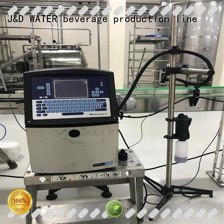 J&D WATER inkjet printer high quality for plastics