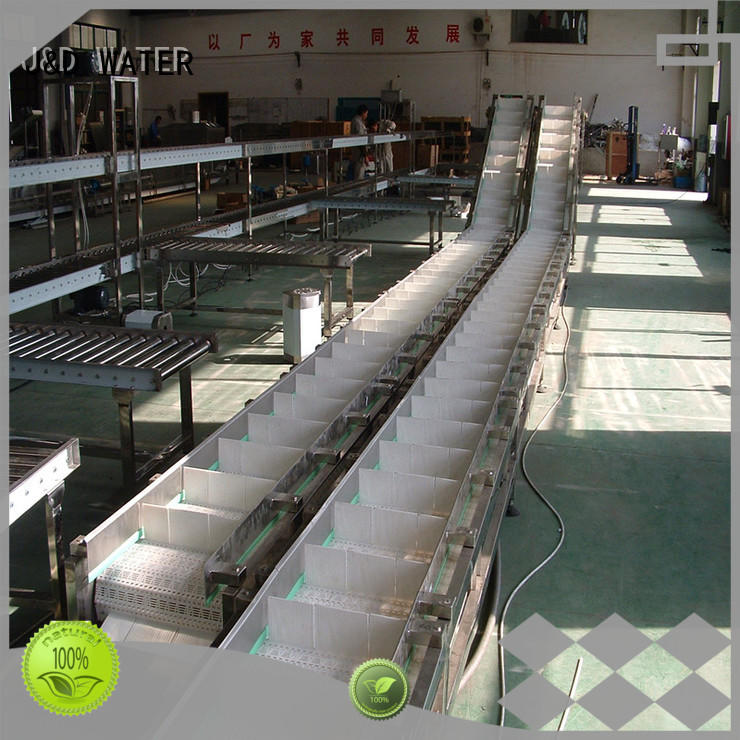 J&D WATER high quality slat conveyor high efficiency for daily chemical