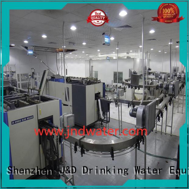 J&D WATER Brand beverage bottle custom air conveyor systems