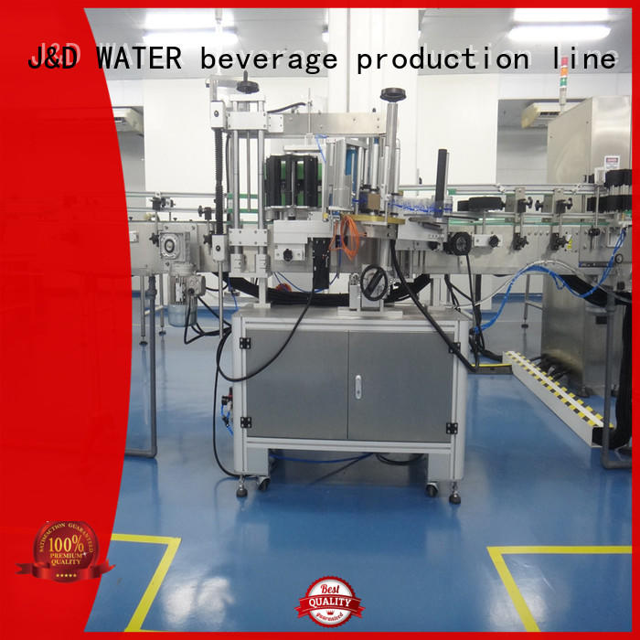 J&D WATER Automatic self adhesive labeling machine adjustable for film lables