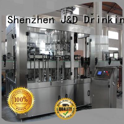 J&D WATER larger capacity bottle capping machine convenient Glass bottles