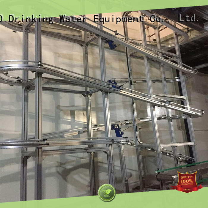 J&D WATER stainless slat chain conveyor manufacturer for beverage,