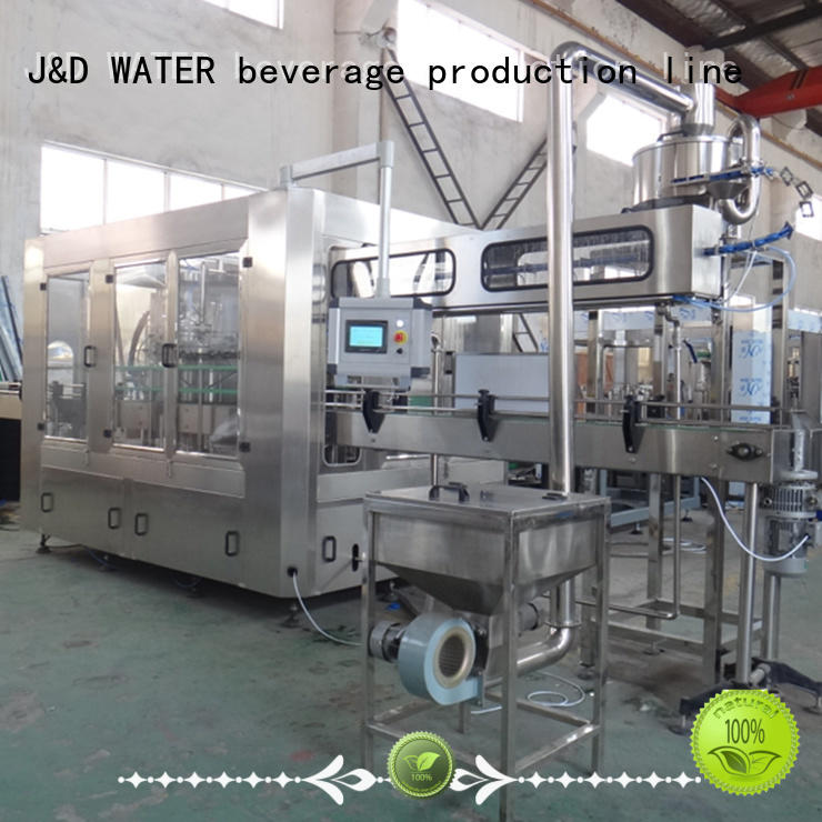 J&D WATER intelligent filling capping machine engineering for vinegar