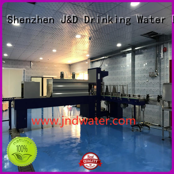 J&D WATER automatic wrapping machine for bottle, easy to operate for beverage
