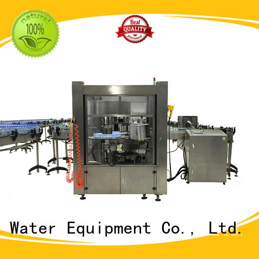 water bottle filling and labeling machine melt for glass bottle J&D WATER