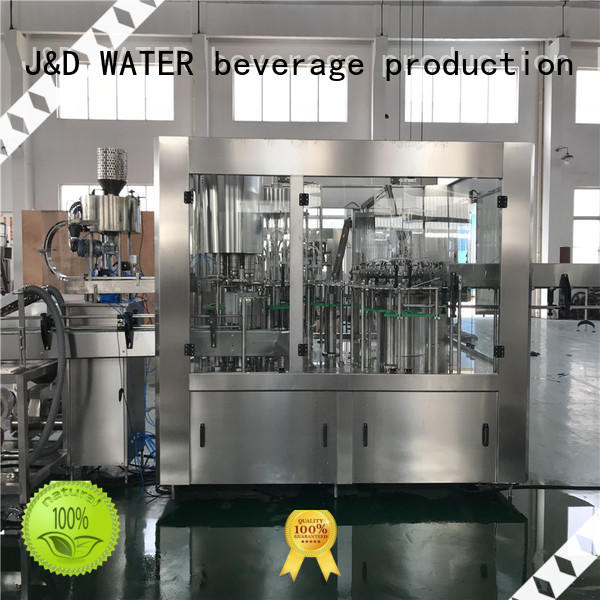 J&D WATER larger capacity bottle washing filling capping machine engineering for juice