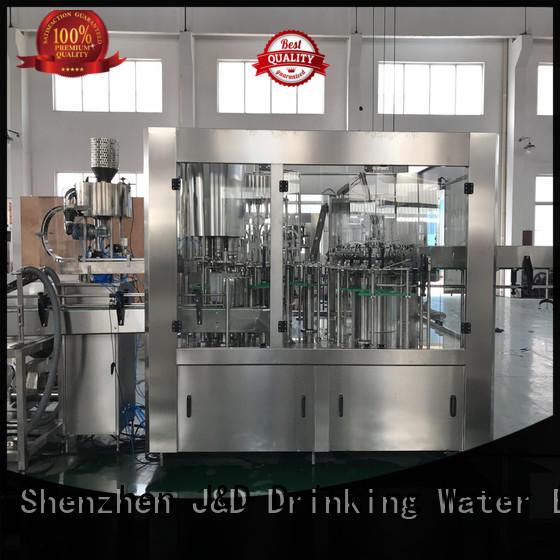 glass bottle filling machine for sale stainless steel juice,tea,soy sauce,vinegar,milk J&D WATER