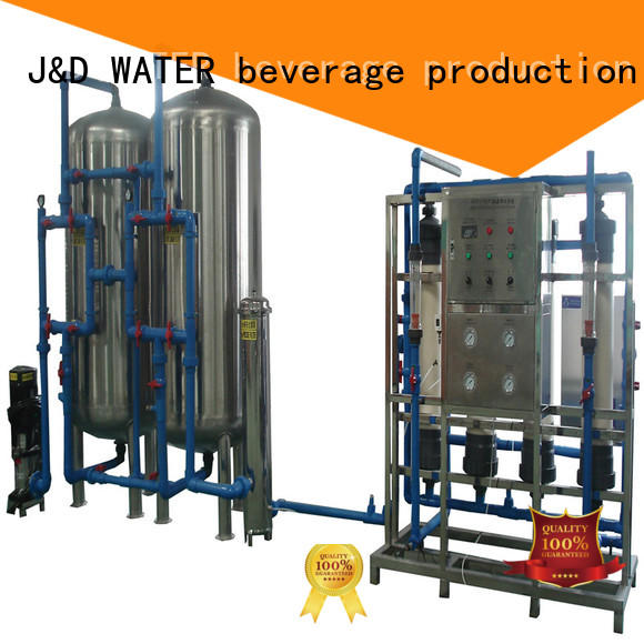 J&D WATER easy operation water plant machine filter chrome plating