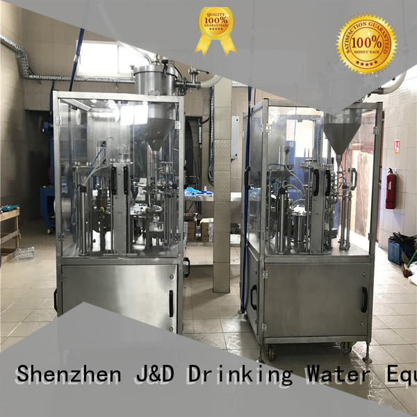 automatic filling sealing cup sealing machine J&D WATER