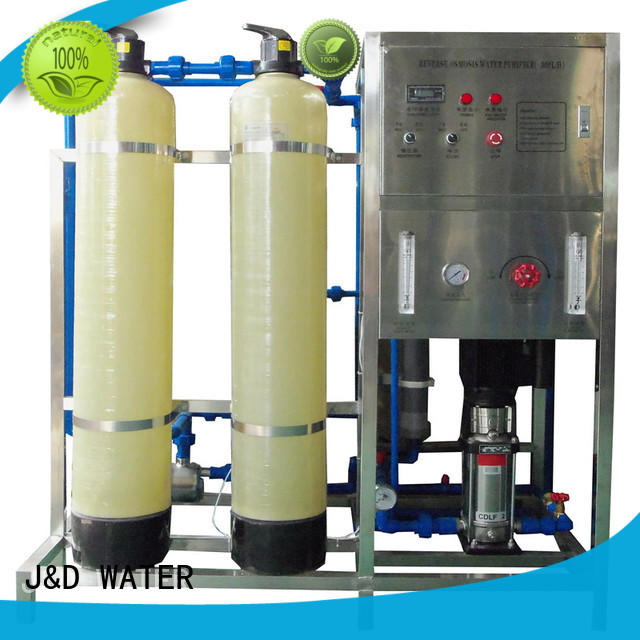 J&D WATER Auto-check osmosis machine with Glass Tank for pure water