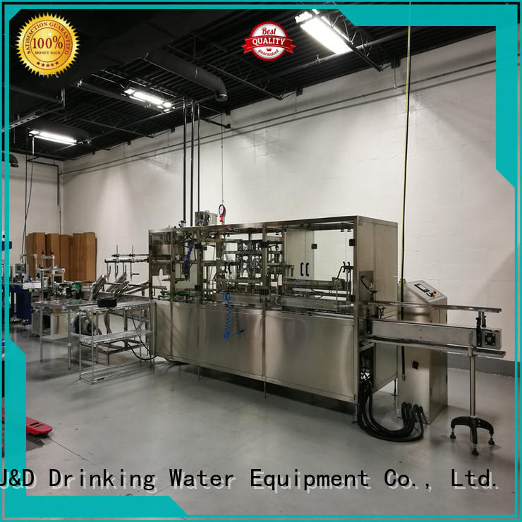 J&D WATER Brand capping bottle custom wine bottle filler machine