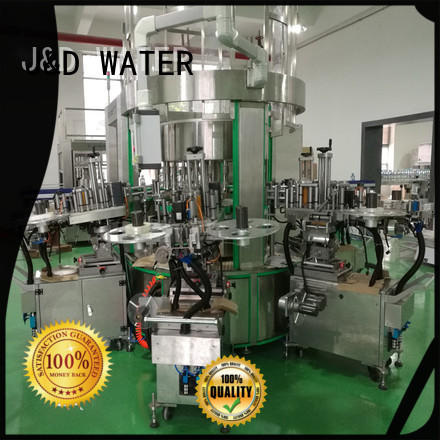J&D WATER self adhesive labeling machine standard for glass bottle