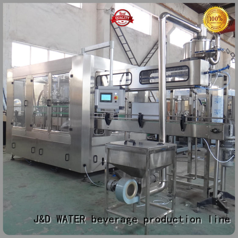 J&D WATER easy operation filling capping machine stainless steel for juice