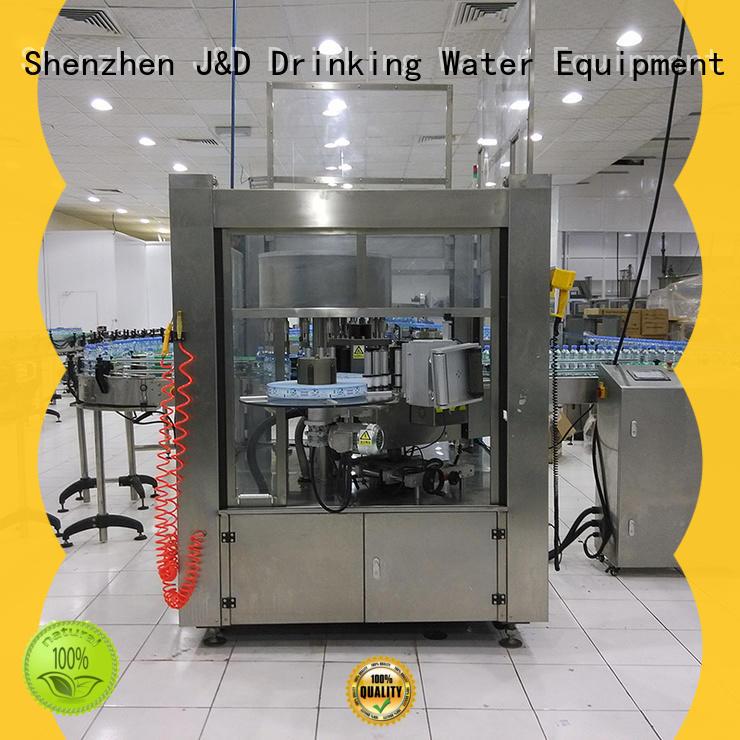 J&D WATER waterproof square bottle labeling machine standard for glass bottle