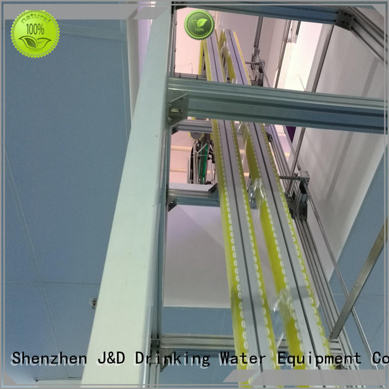 steel stainless J&D WATER Brand chain conveyor belt