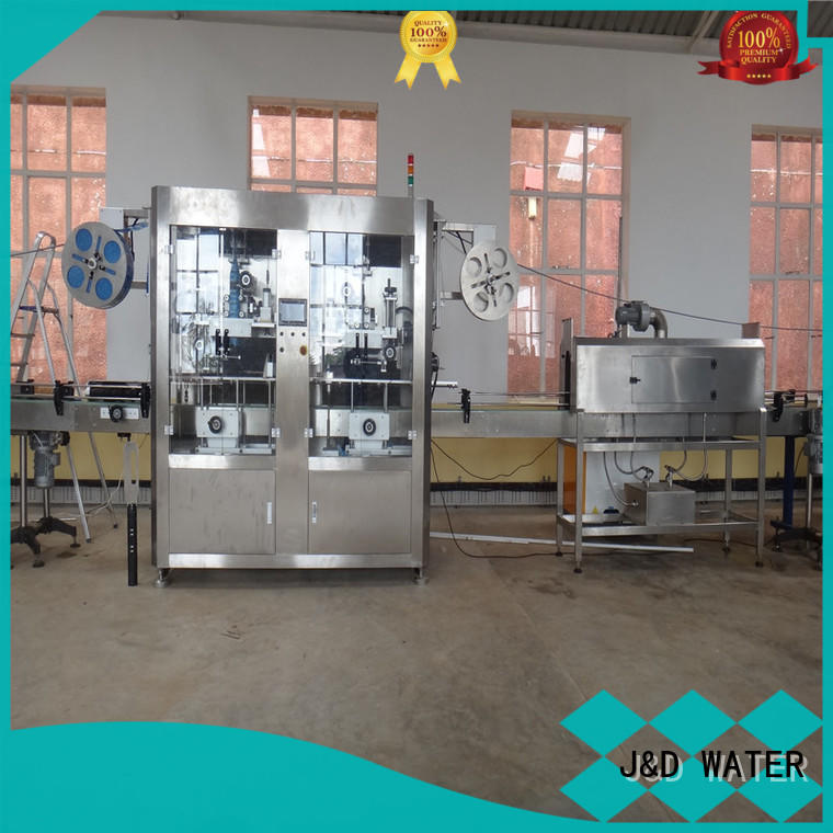 J&D WATER fast automatic labeling machine quickly for plastic bottle