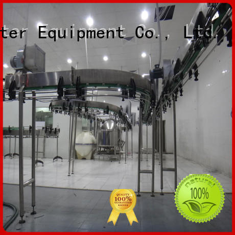 J&D WATER line bottle conveyor stability for food