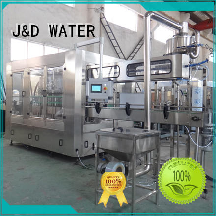 J&D WATER larger capacity beverage filling machine for Glass bottles