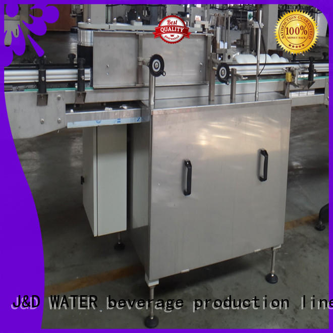 J&D WATER waterproof semi automatic labeling machine standard for metal container