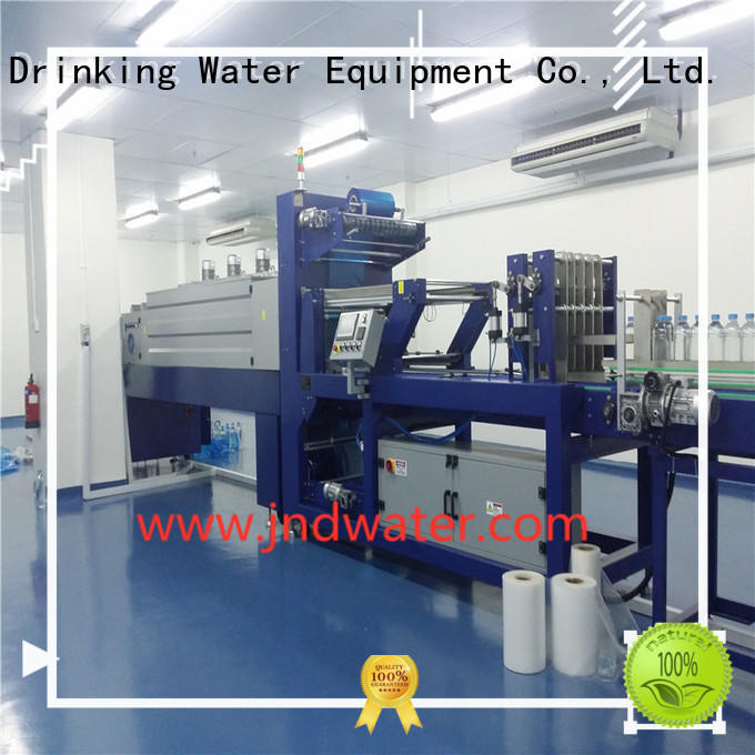 упаковочные полуавтоматические термоусадочные машины для продажи J & D WATER производство