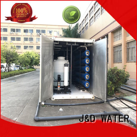 J&D WATER Economic sea water purifier high purity for troop stations