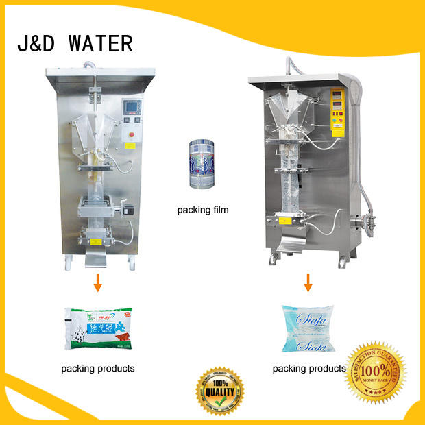 J&D WATER advanced technology bag filling machine engineering for cosmetic