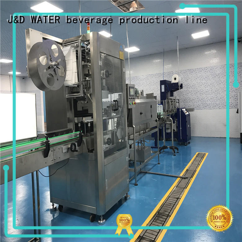 J&D WATER automatic labeling machine convenient for metal container