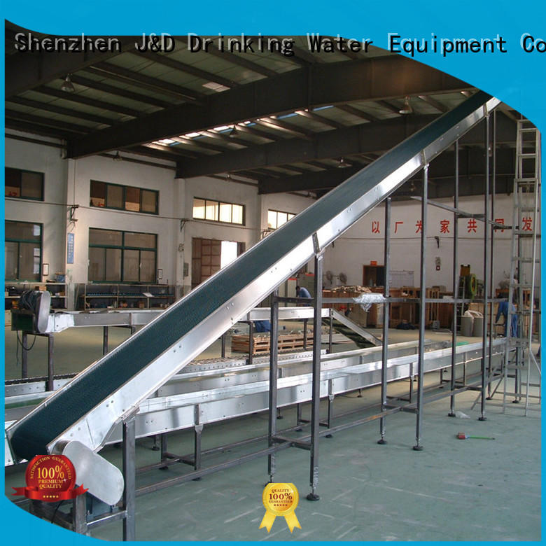J&D WATER easy transport slat chain conveyor stability for daily chemical