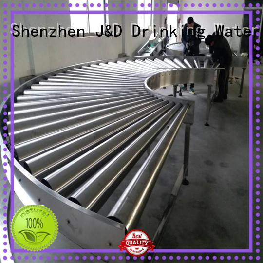 automatic roller conveyor system stability for water J&D WATER