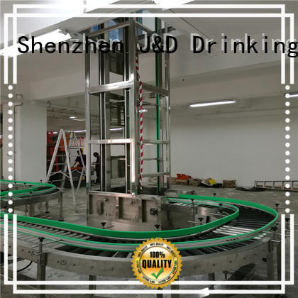 J&D WATER easy operation gravity conveyor stainless steel for drinking