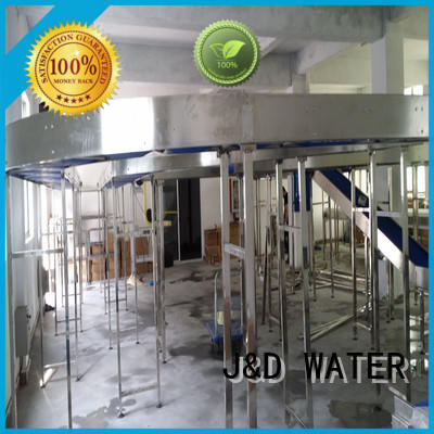 J&D WATER easy operation slat conveyor stability for beverage,