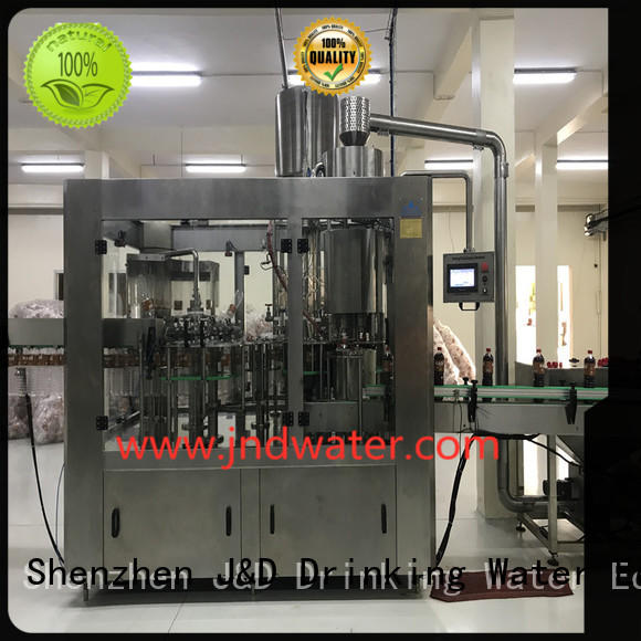 machine filling automatic bottle filling machine carbonated sale J&D WATER Brand