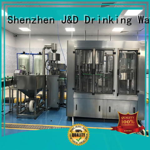 J&D WATER water bottle packing machine complete function for Glass bottles